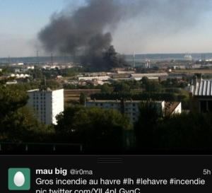 Incendie dans une ex-usine du Havre : d'importants moyens engagés compte tenu des risques