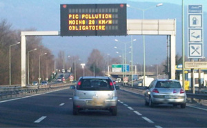 Pic de pollution : les forces de l'ordre chargées de faire respecter la limitation de vitesse