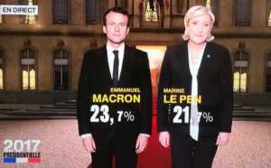 Election présidentielle : Emmanuel Macron et Marine Le Pen au second tour