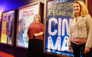 Catherine Delalande, conseillère départementale de l'Eure et Nataly Lavigne, la directrice du ciné Pathé d'Évreux ont présenté et détaillé l'opération (Photo @CD27)