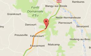 Un poids-lourd en feu cette nuit sur l'A28 à Saint-Riquier-en-Rivière en Seine-Maritime