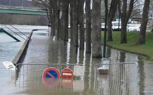 A Vernon, la Seine déborde (Photo © J.B./ infonormandie)