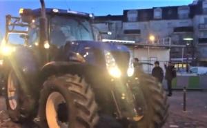 Contre la ligne nouvelle Paris Normandie les agriculteurs bloquent les gares de Mantes-la-Jolie et d'Yvetot