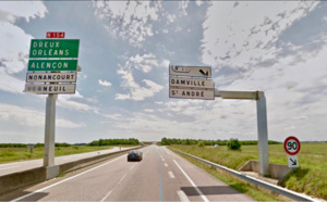 Circulation modifiée sur la RN154 en travaux pendant un mois, dès lundi entre Évreux et Nonancourt