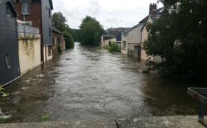 Inondations dans l'Eure : les villes de Bernay et Brionne gagnées par la crue
