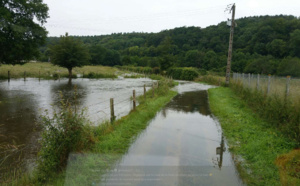 Inondations dans l'Eure : la Risle a atteint 1,18 mètre à Brionne, la base de loisirs inondée