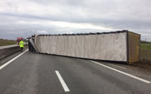 Un camion couché sur les voies : l'A28 coupée dans le sens Rouen - Alençon