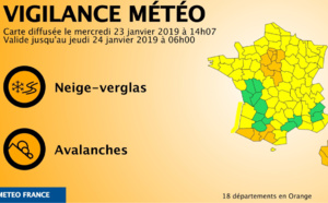 Neige et verglas : restriction de circulation des poids-lourds en Seine-Maritime et dans l'Eure