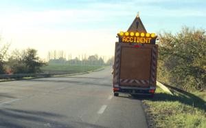 Seine-Maritime : un poids lourd embourbé sur le bas-côté de l'A29 près d'Yvetot