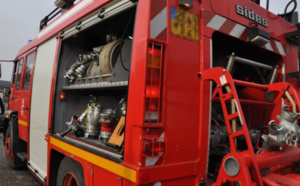 35 sapeurs-pompiers mobilisés pour un feu de garage ce matin à Gravigny, près d'Évreux