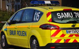 Une femme à moto grièvement blessée dans un accident de la circulation près de Rouen