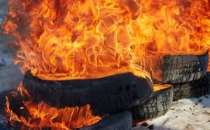 Eure : l'incendie embrase une centaine de pneus à Criquebeuf-sur-Eure