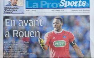 """OM-FCR : """"En avant à Rouen"""" titre La Provence"""