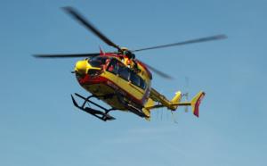 La conductrice a été évacuée, en urgence absolue, par l'hélicoptère Dragon76, vers un hôpital de la région - Illustration