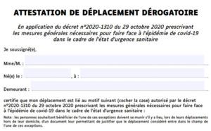 Confinement : la nouvelle attestation de déplacement est disponible