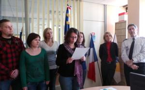 Vingt-quatre postiers stagiaires prêtent serment à l'hôtel de police de Rouen