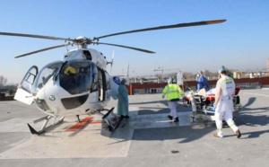 Deux patients de l'hôpital de Dunkerque ont ainsi été héliportés et pris en charge en réanimation au Groupe Hospitalier du Havre - Photo © ARS Hauts-de-France