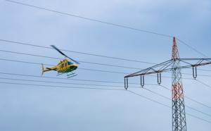 Le corps de l'homme a été repéré accroché au sommet d'un pylône de 30 mètres de ghaut lors du survol d'un hélicoptère affrété par RTE - Illustration © Adobe