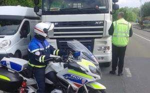 63 infractions constatées lors d'un contrôle ciblant les poids-lourds sur la RN28 près de Rouen