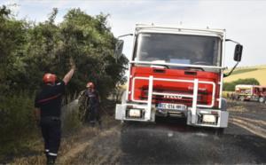 Incendie dans un champ de blé à Eu, en Seine-Maritime : 1,5 ha de récoltes parti en fumée