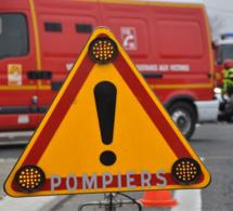 Voiture contre camion-benne : deux blessées transportées au CHU de Rouen