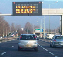 Pollution : limitation de la vitesse en Ile-de-France ce lundi 5 décembre