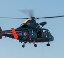 Manche : un couple en difficulté au large de la pointe du Roc hélitreuillé par l'hélicoptère de la Marine
