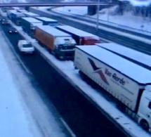 Les poids lourds bloqués dans l'Eure peuvent reprendre la route ...jusqu'à 17 heures