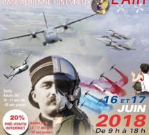 Meeting aérien sur la base 105 d'Évreux (Eure) les 16 et 17 juin