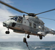 Samedi 12 mai, démonstration d'hélitreuillage au Havre par l'hélicoptère de la Marine nationale