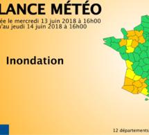Inondations : L'Eure, l'Orne et le Calvados restent en vigilance orange