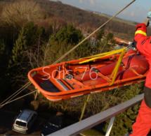 Eure : les pompiers du GRIMP mobilisés pour une femme blessée en bordure de Seine