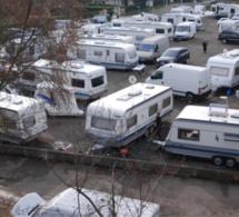 70 caravanes des gens du voyage expulsées ce matin de l'esplanade Saint-Gervais à Rouen
