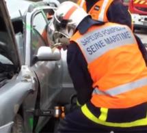 Seine-Maritime : blessé grièvement dans sa voiture retournée dans un fossé près d'Yvetot