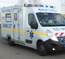 Près d'Evreux, le 44 tonnes percute un véhicule de la Dirno : le chauffeur du camion grièvement blessé