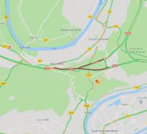 Voiture en feu sur l'A13 entre Rouen et Bourgtheroulde : l'autoroute est coupée vers Caen
