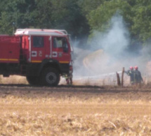 Trois incendies mobilisent les sapeurs-pompiers de l'Eure : 21 ha de chaume partis en fumée