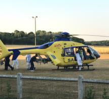 Le pilote a été évacué en urgence absolue par l'hélicoptère du SAMU76 - Illustration @infonormandie