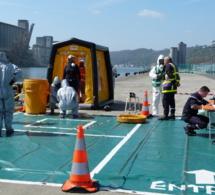 Attentat terroriste et chimique à bord d'un navire : exercice grandeur nature sur le port de Rouen