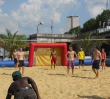 Rouen sur mer : la plage et les animations sportives profitent du beau temps