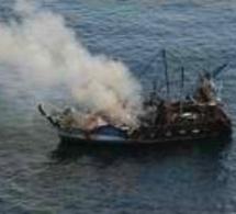 Le navire de pêche en feu au large de Fécamp a finalement coulé