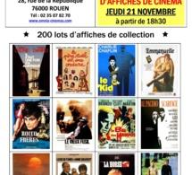 Rouen : Vente aux enchères d'affiches de cinéma de collection