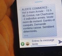 Cambriolages et braquages : les commerçants de l'Eure alertés par SMS