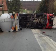 Accident de camion-citerne dans l'Eure : la RD438 bientôt rendue totalement à la circulation