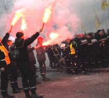 Les sapeurs-pompiers manifestent leur colère ce jeudi après-midi à Evreux