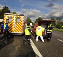 Deux tués et un blessé grave dans un face-à-face sur la RN 13 à Chaignes près de Pacy-sur-Eure