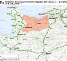 Circulation : les cartes à connaître pour contourner le Calvados du 5 au 9 juin