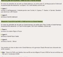 Déminages à Sainte-Adresse et au Havre : les dessertes de transport en commun modifiées