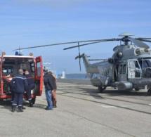 Victime d'un malaise, un marin-pêcheur dieppois évacué par hélicoptère vers l'hôpital de Cherbourg