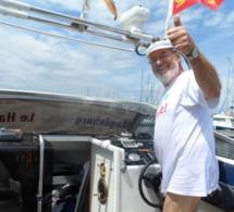 A partir du Havre, le retraité allemand découvre la France sur son bateau à moteur